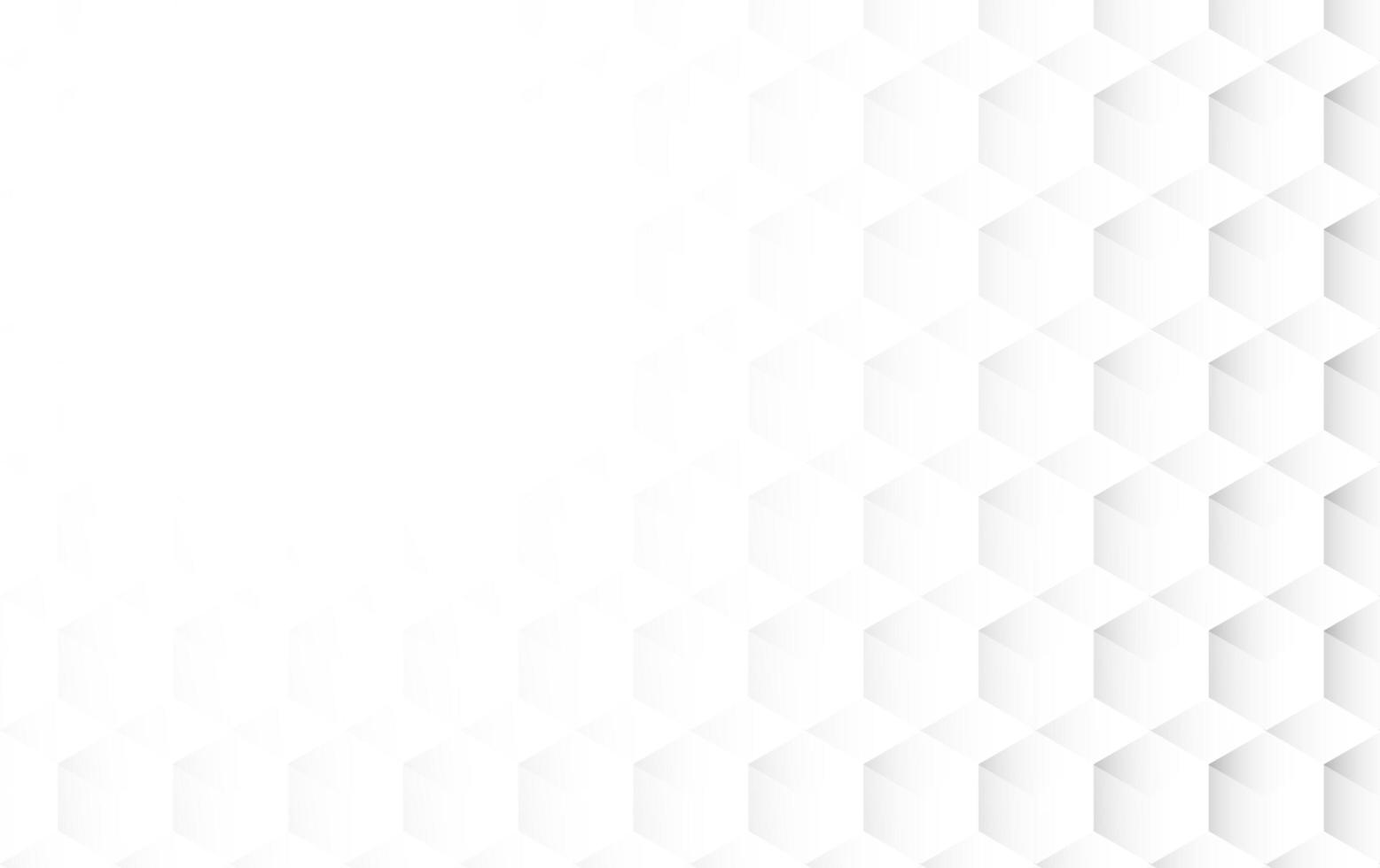 abstract white cubic background vector