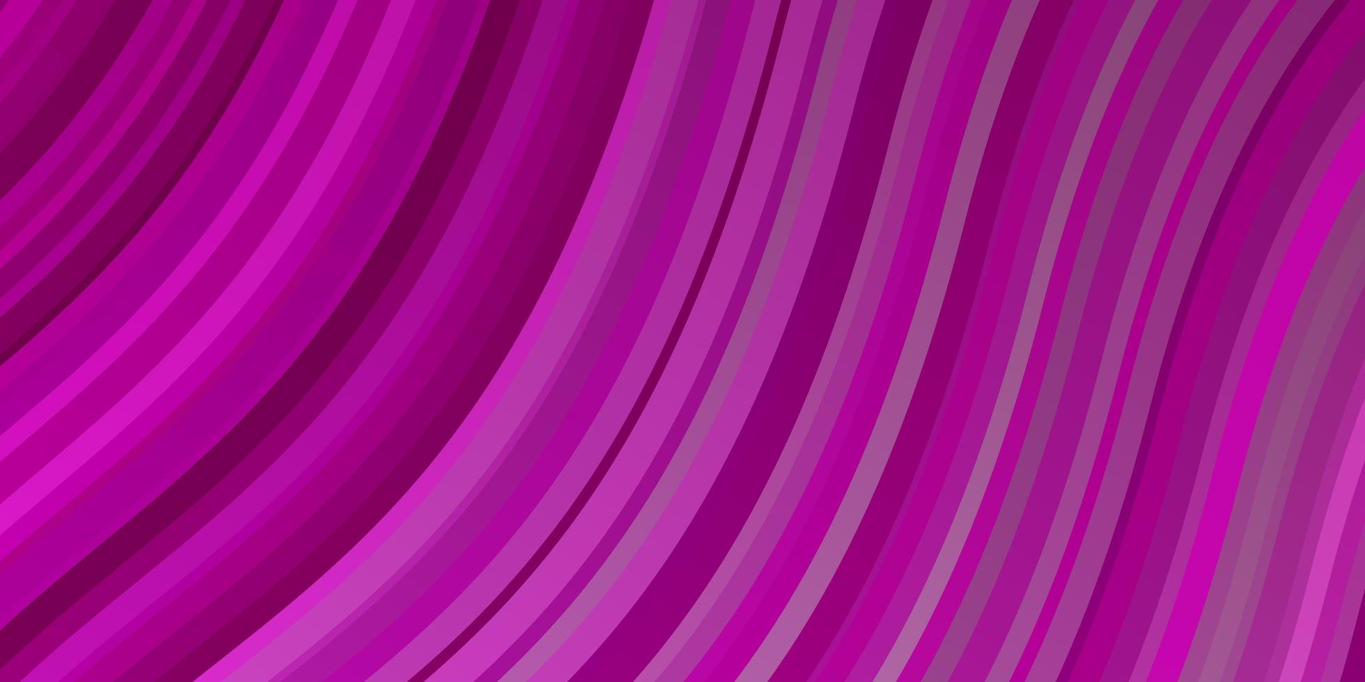 Light Pink vector pattern with curved lines.