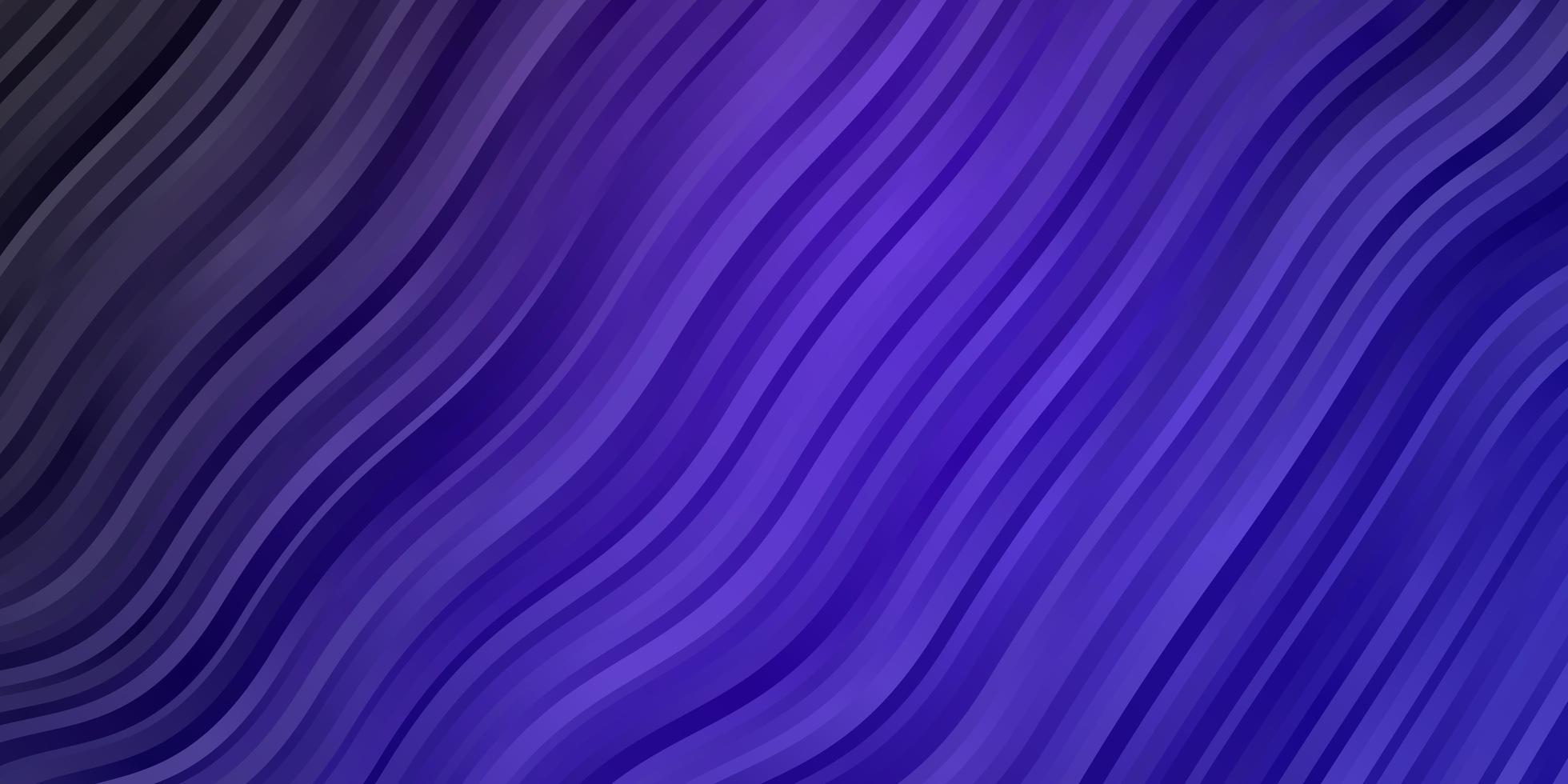 Telón de fondo de vector púrpura oscuro con líneas dobladas.