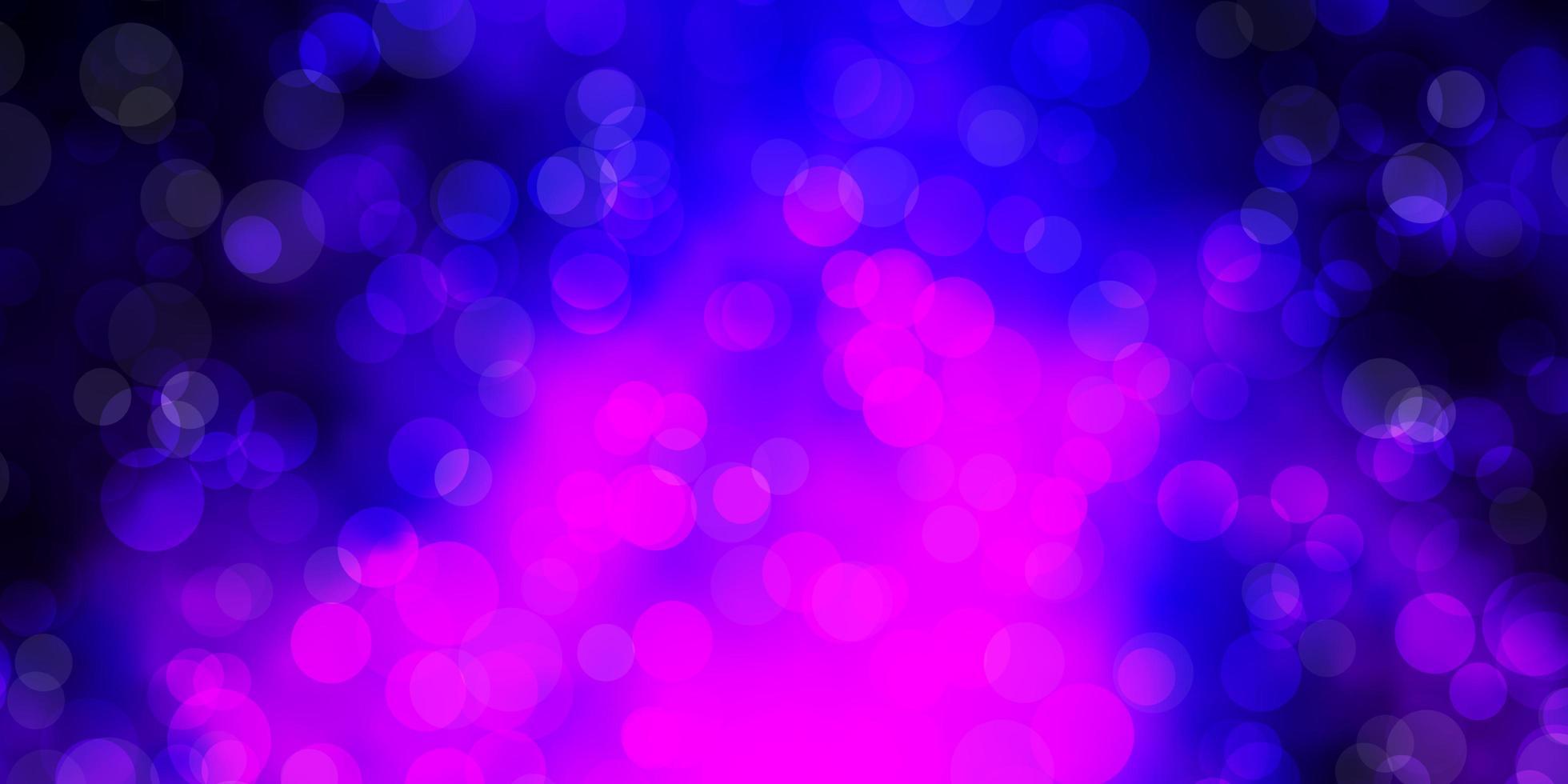 Fondo de vector púrpura oscuro con burbujas.
