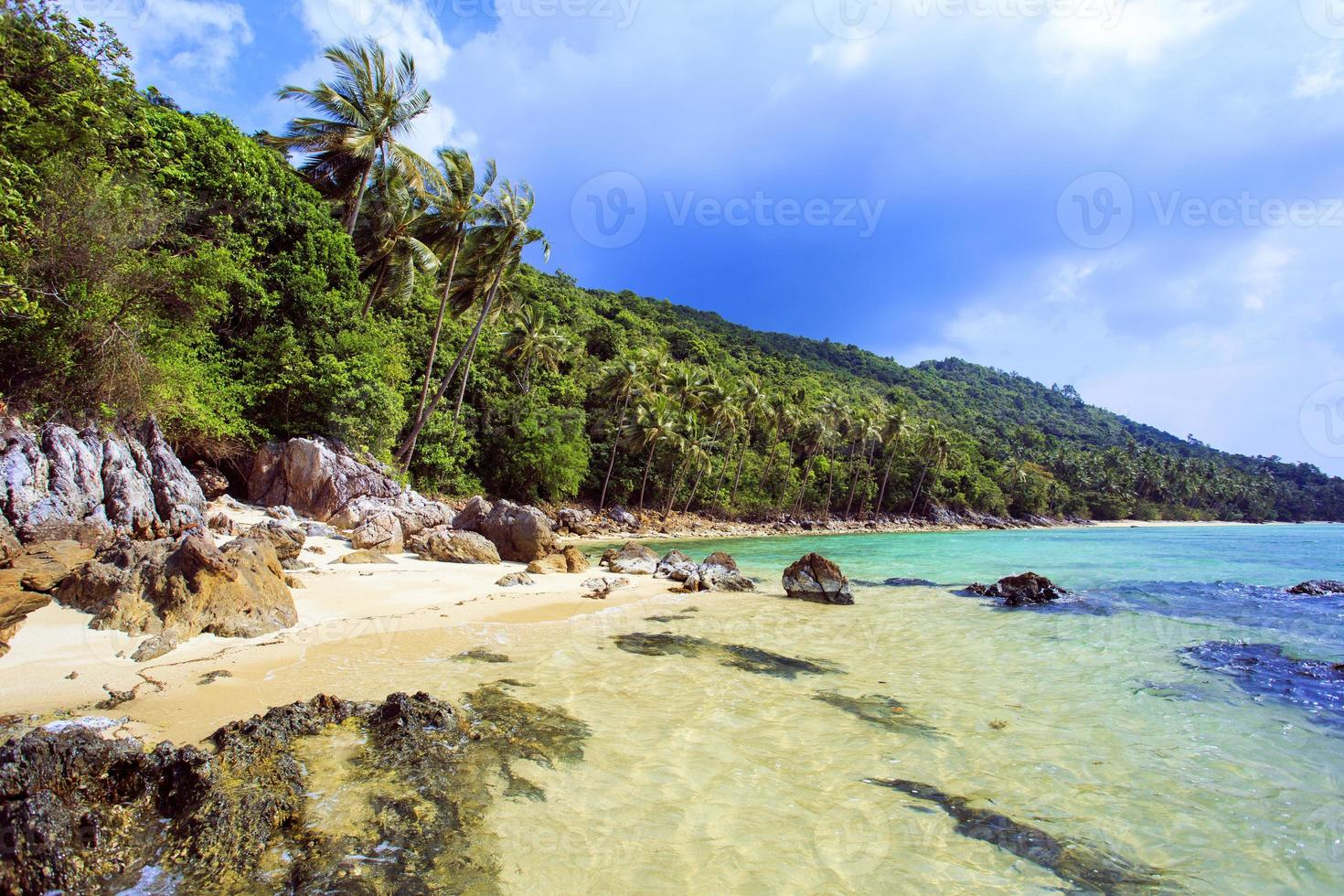 Tropical beach Taling Ngam. Koh Samui island Thailand photo
