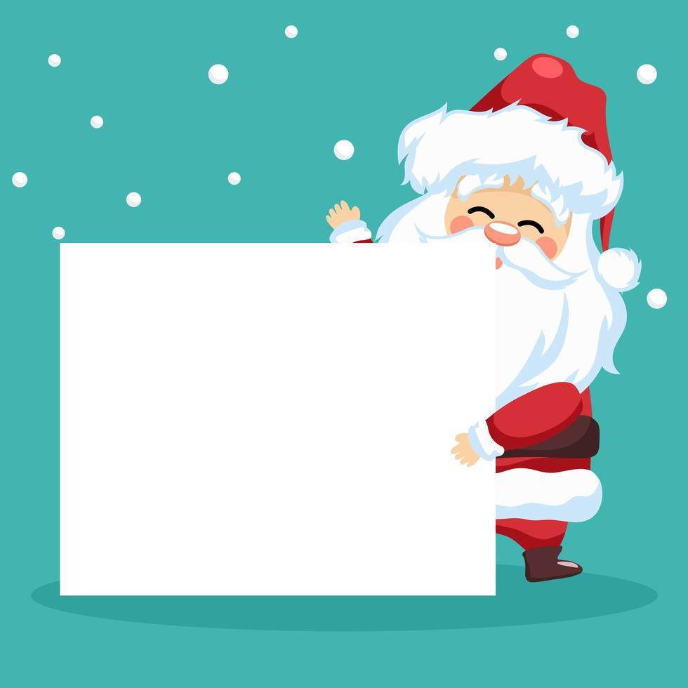 pequeño diseño de santa claus para tarjeta navideña vector