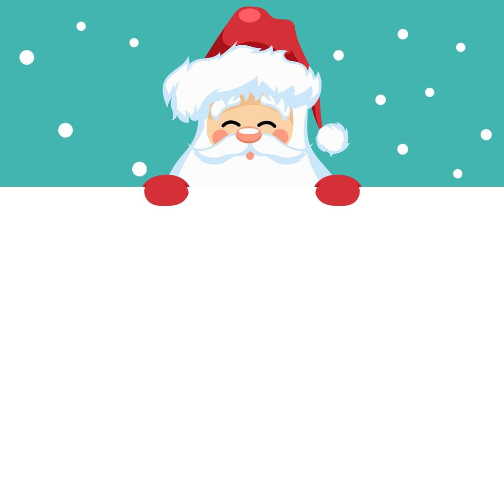 diseño de tarjeta de feliz navidad con santa claus para dedicación vector