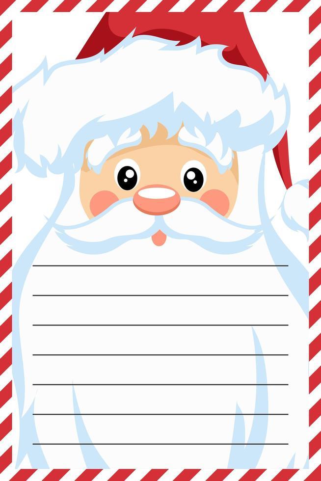 diseño de tarjeta de santa claus para carta de navidad vector