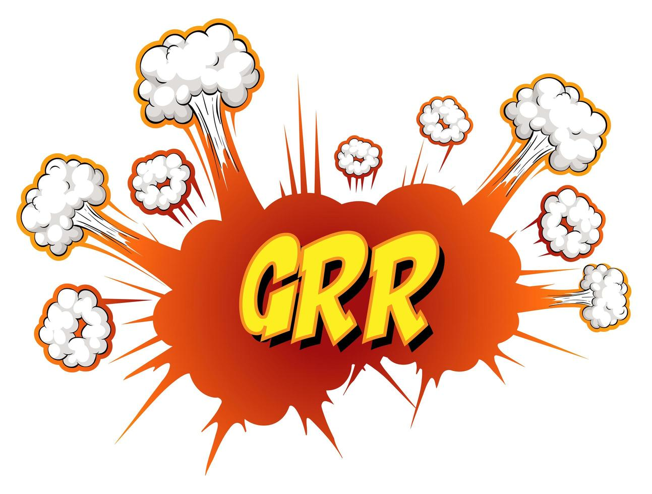 Comic speech bubble with grr text vector
