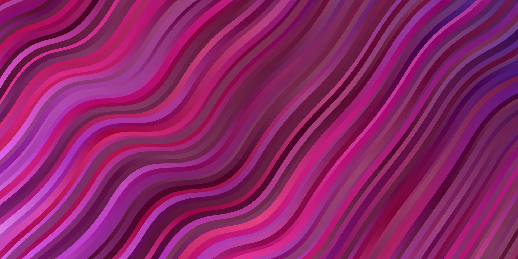 Fondo de vector púrpura, rosa oscuro con curvas.