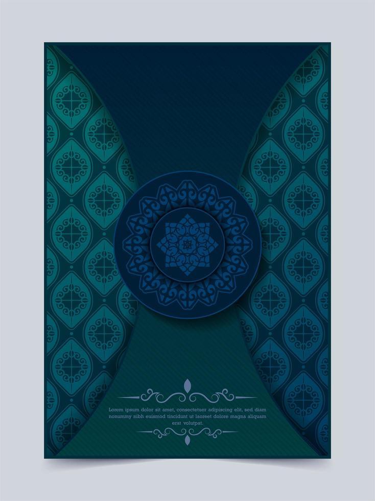 Vintage greeting card with mandala motif modern vector