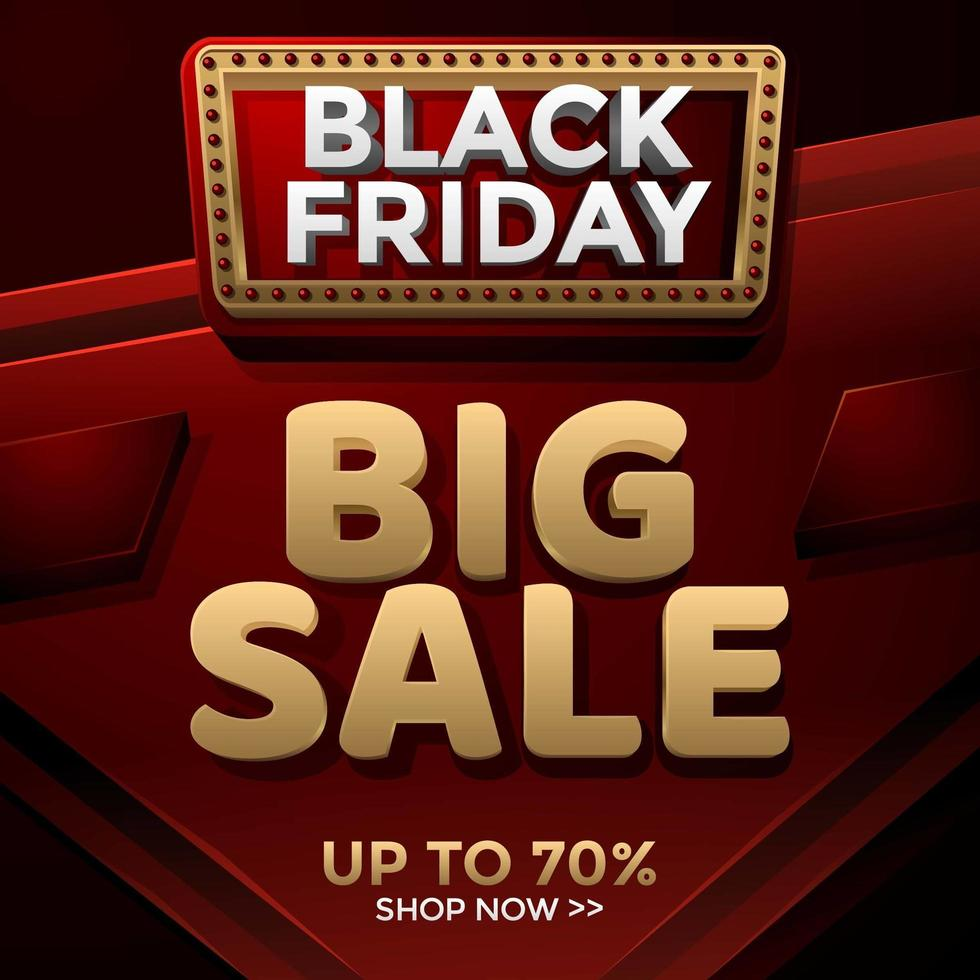 Black Friday Big Sale Template vector