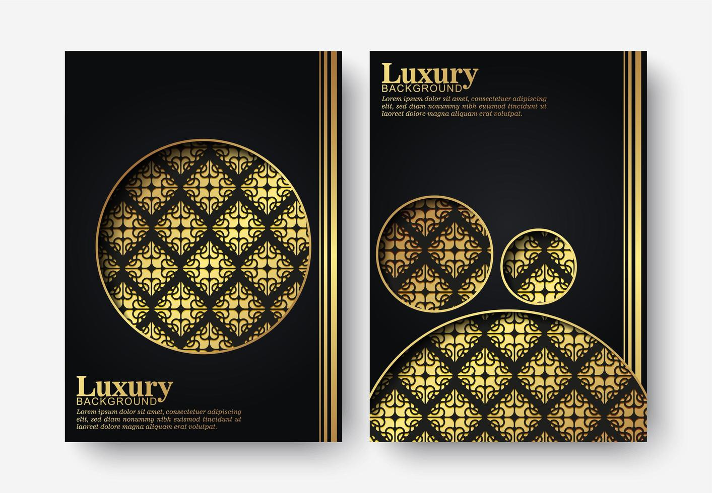 Luxury dark cover set in textural style vector