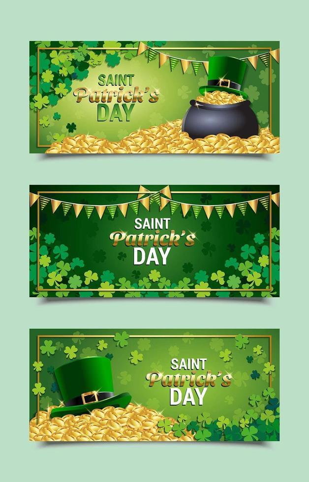 St. Patrick's Day Celebration Banner Templates vector