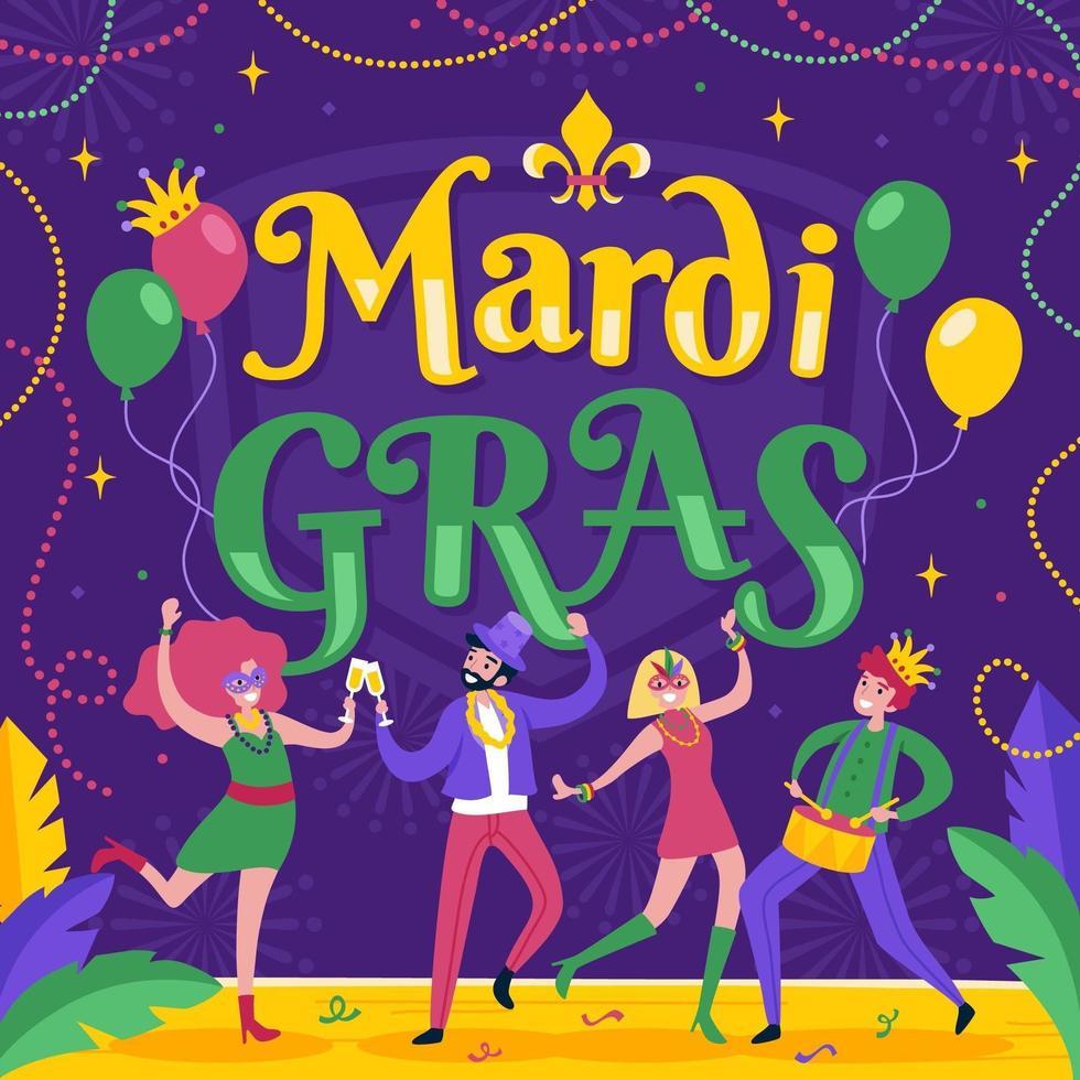 Mardi Gras Festival Celebration vector