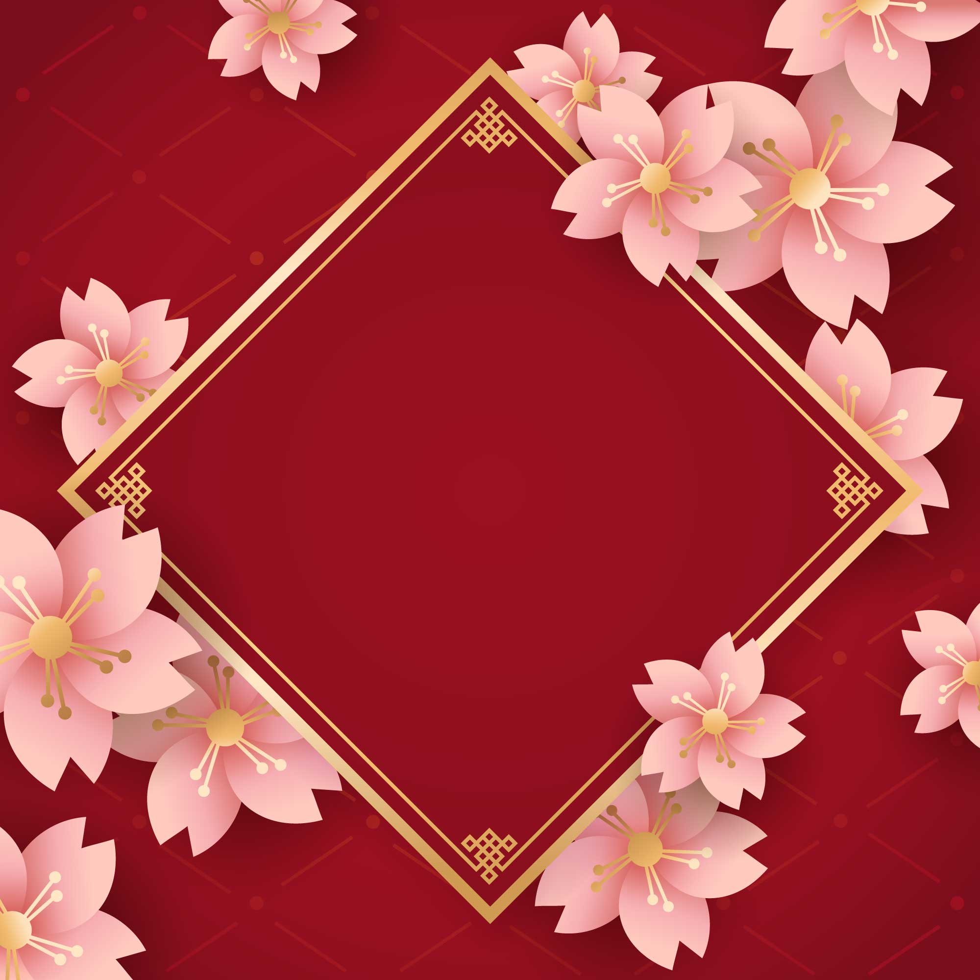 Chinese New Year Flower Background Download Free Vectors Clipart Graphics Vector Art