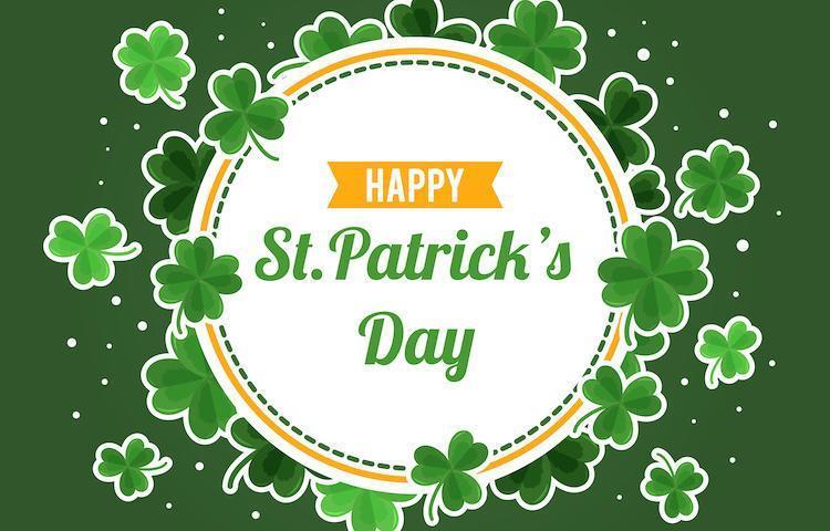 Happy St. Patrick's Day Clover Background vector