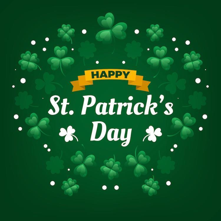 Cute Celebration of St. Patrick's Day With Clover vector