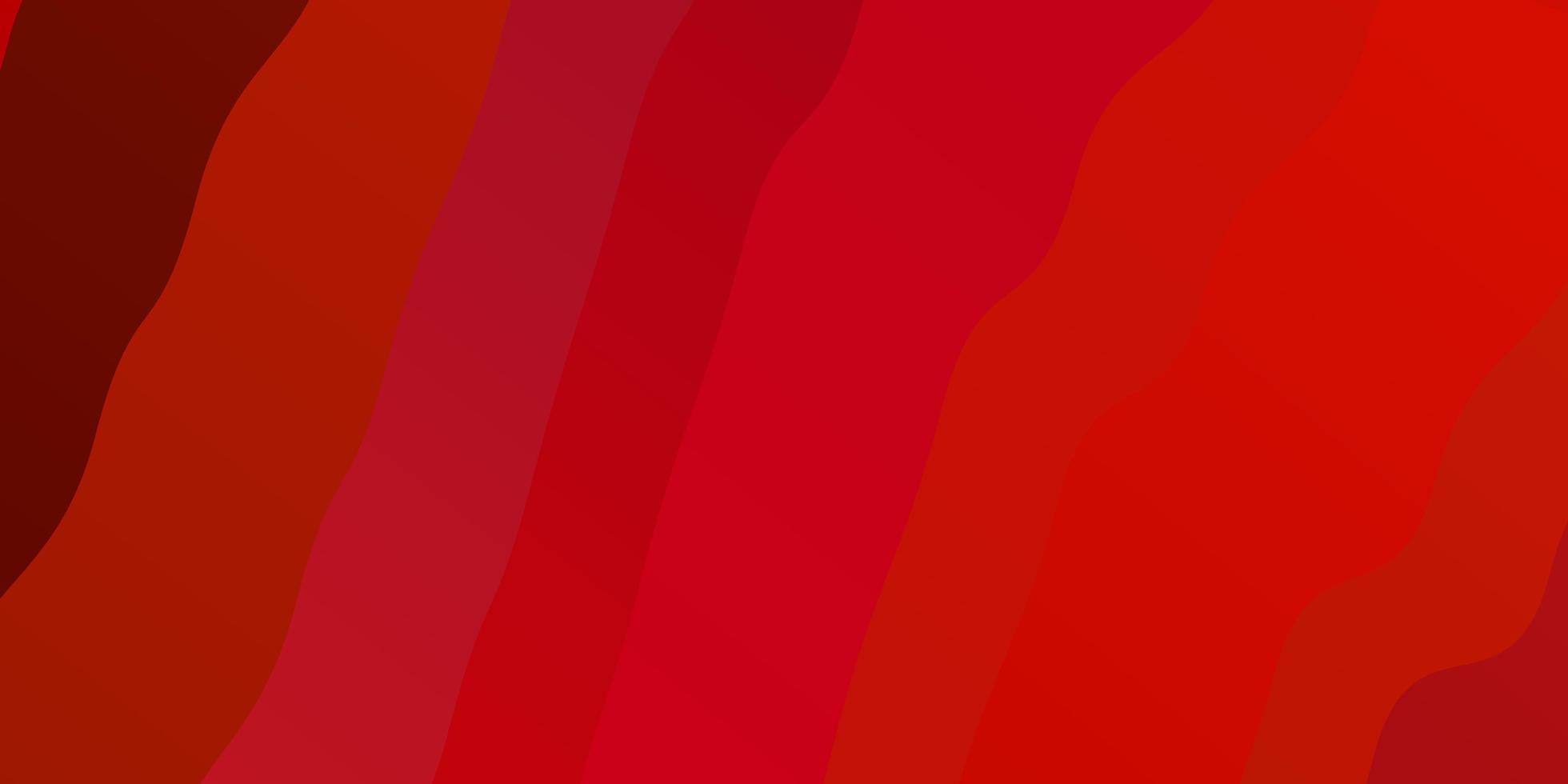 plantilla de vector rojo oscuro con líneas curvas.
