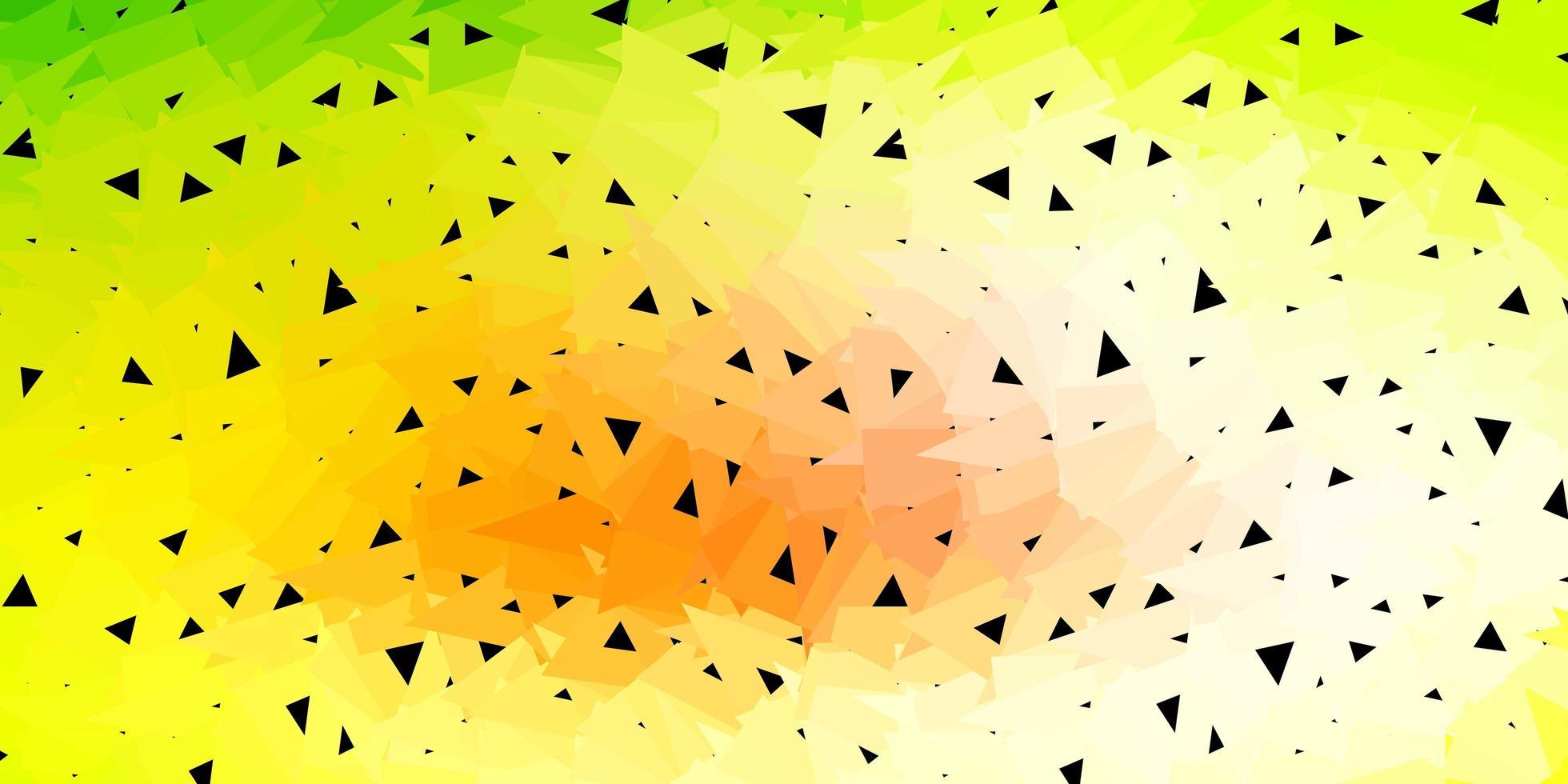 Fondo de triángulo abstracto vector verde claro, rojo.