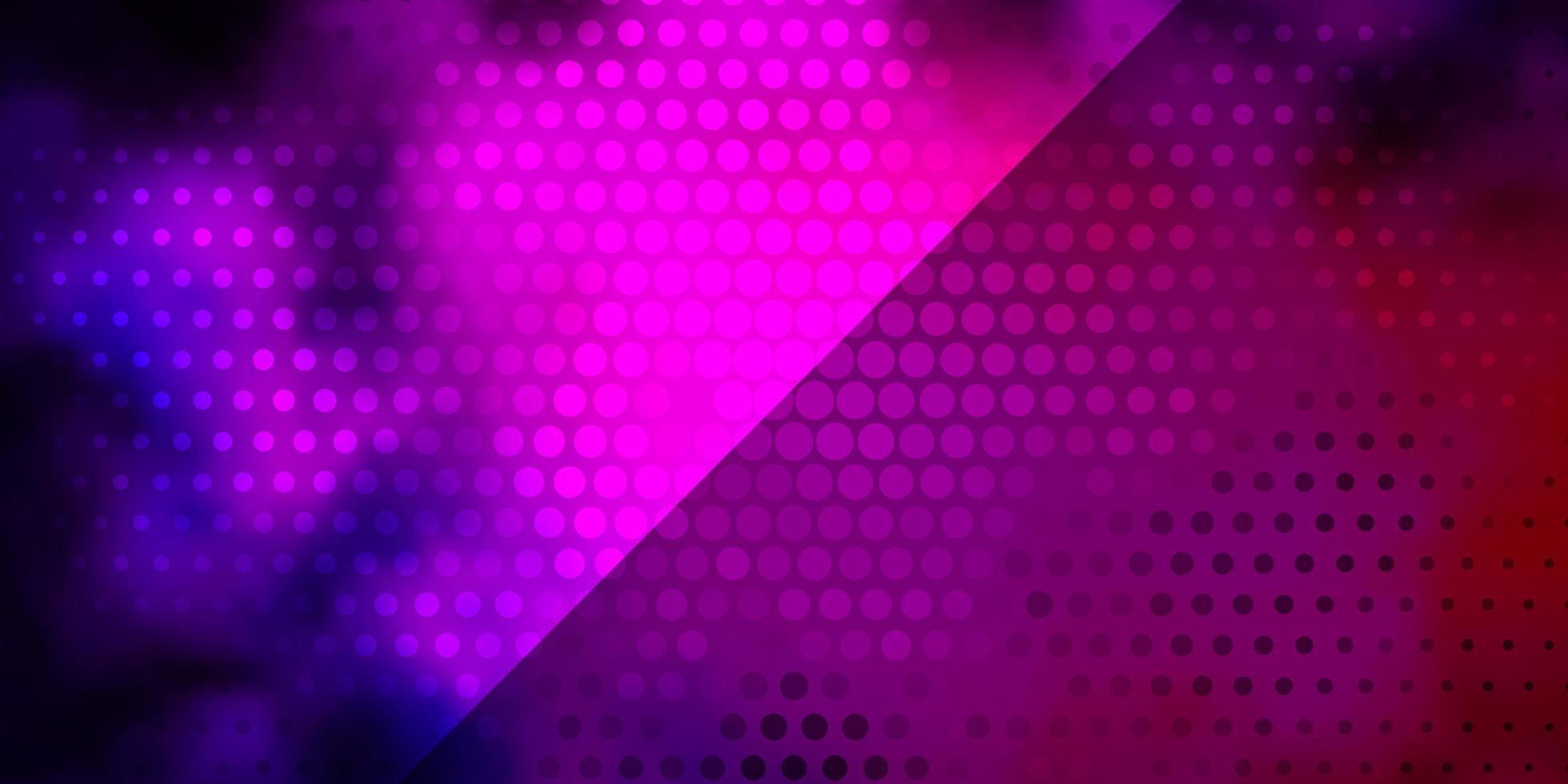 textura de vector de color rosa oscuro, azul con círculos.