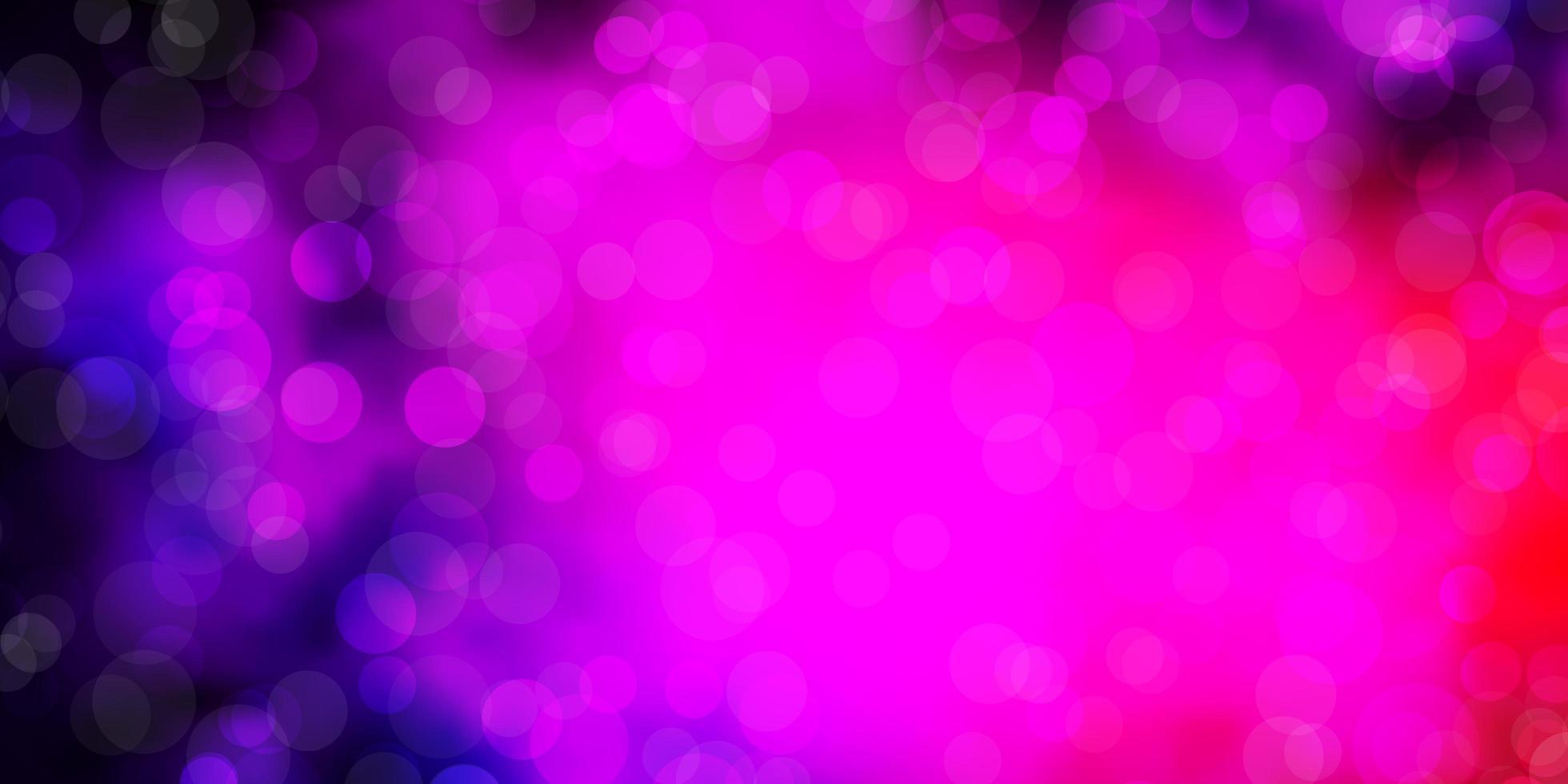 patrón de vector de color rosa oscuro, azul con círculos.
