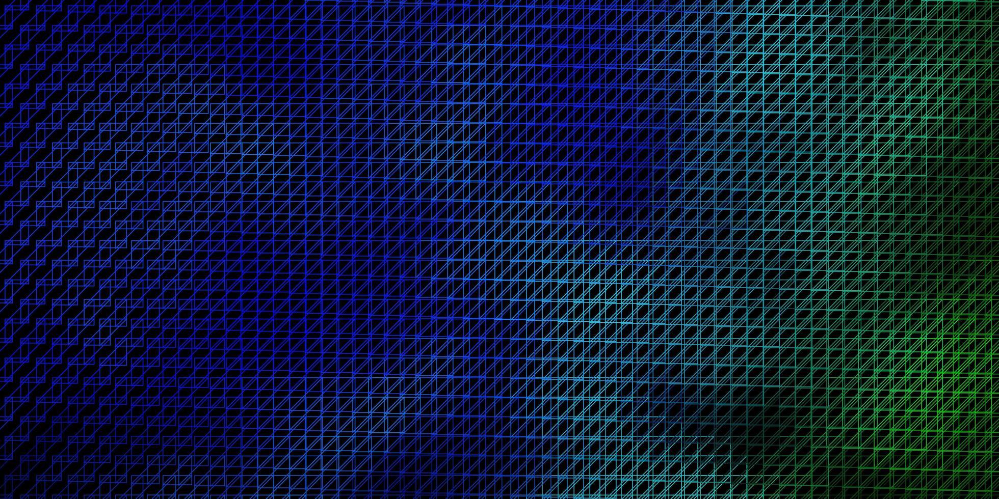 plantilla de vector azul oscuro, verde con líneas.