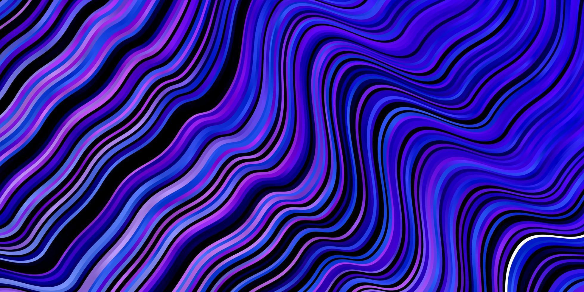 Fondo de vector rosa claro, azul con líneas torcidas.