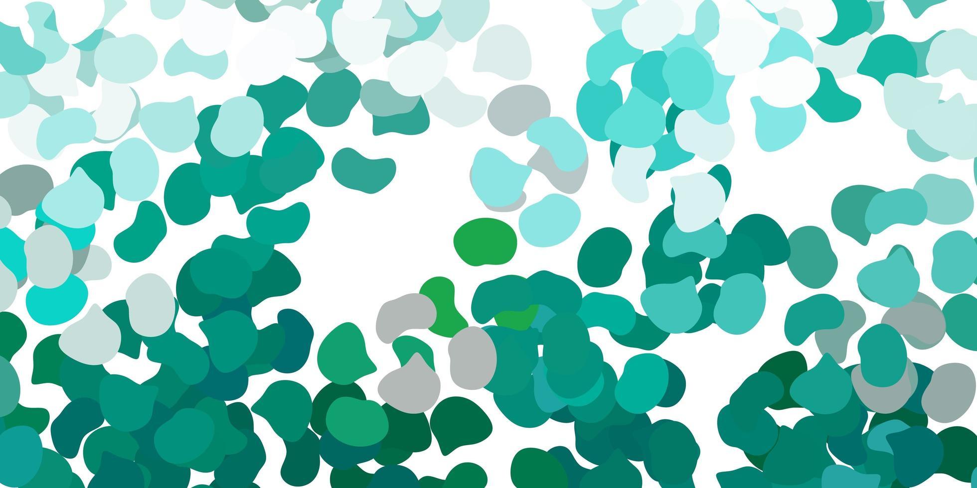 plantilla de vector verde claro con formas abstractas.