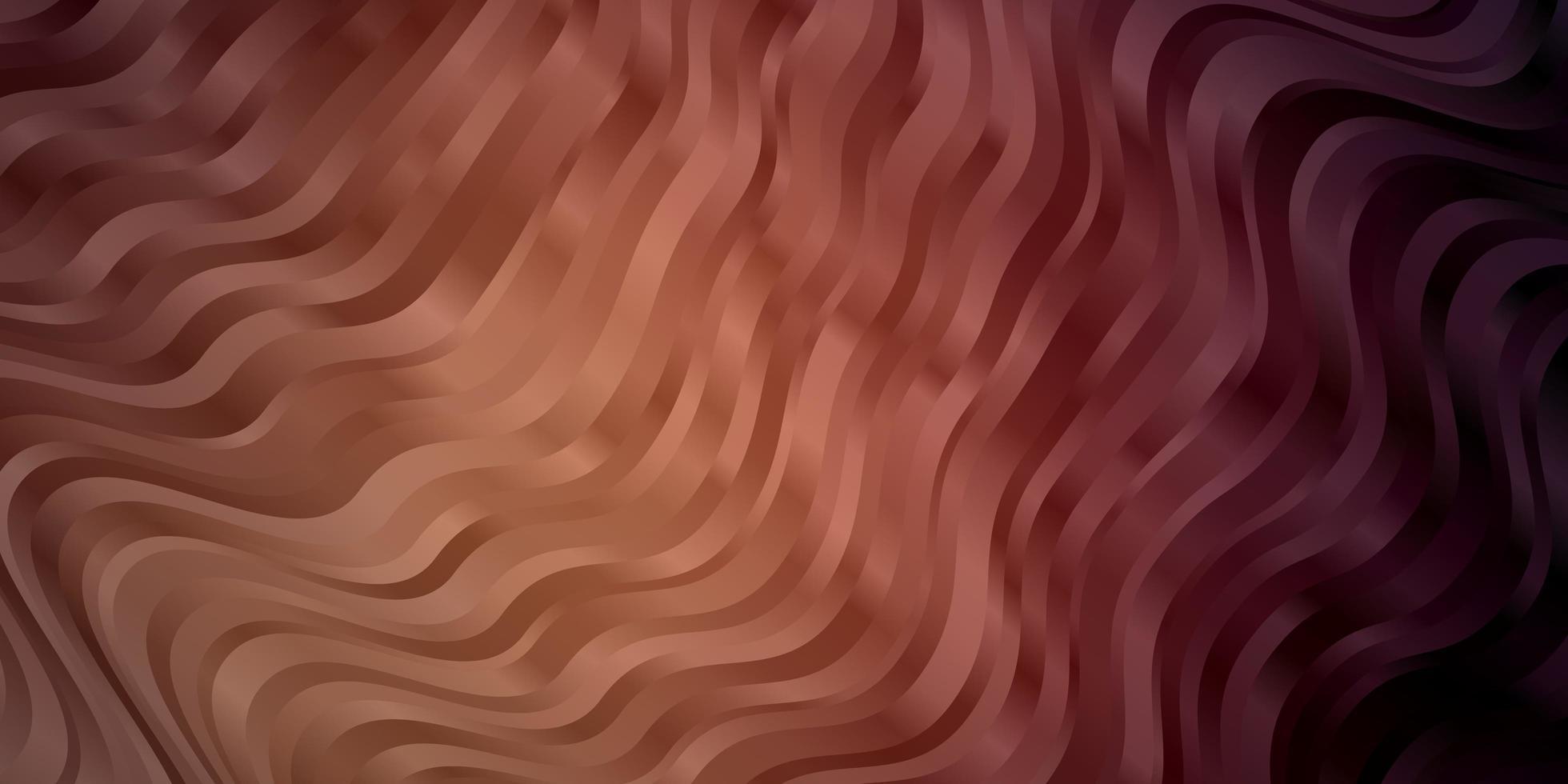 patrón de vector rosa oscuro con curvas.