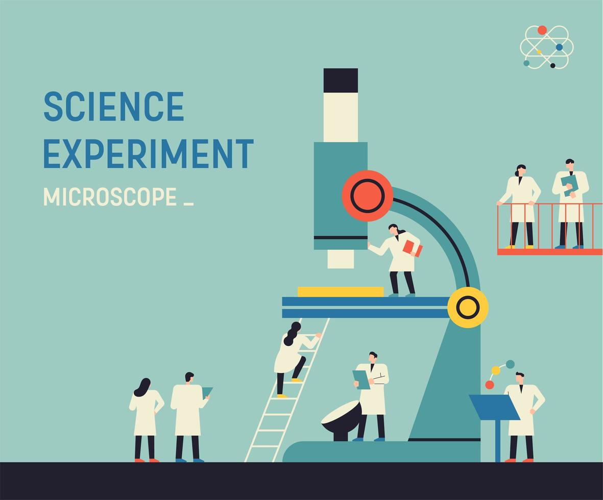 Science experiment - microscope vector
