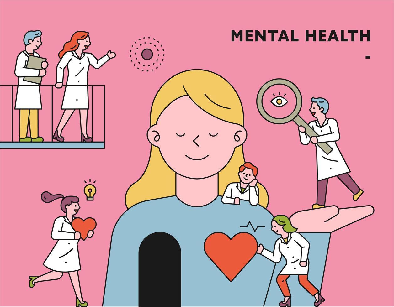Mental Health concept illustration vector