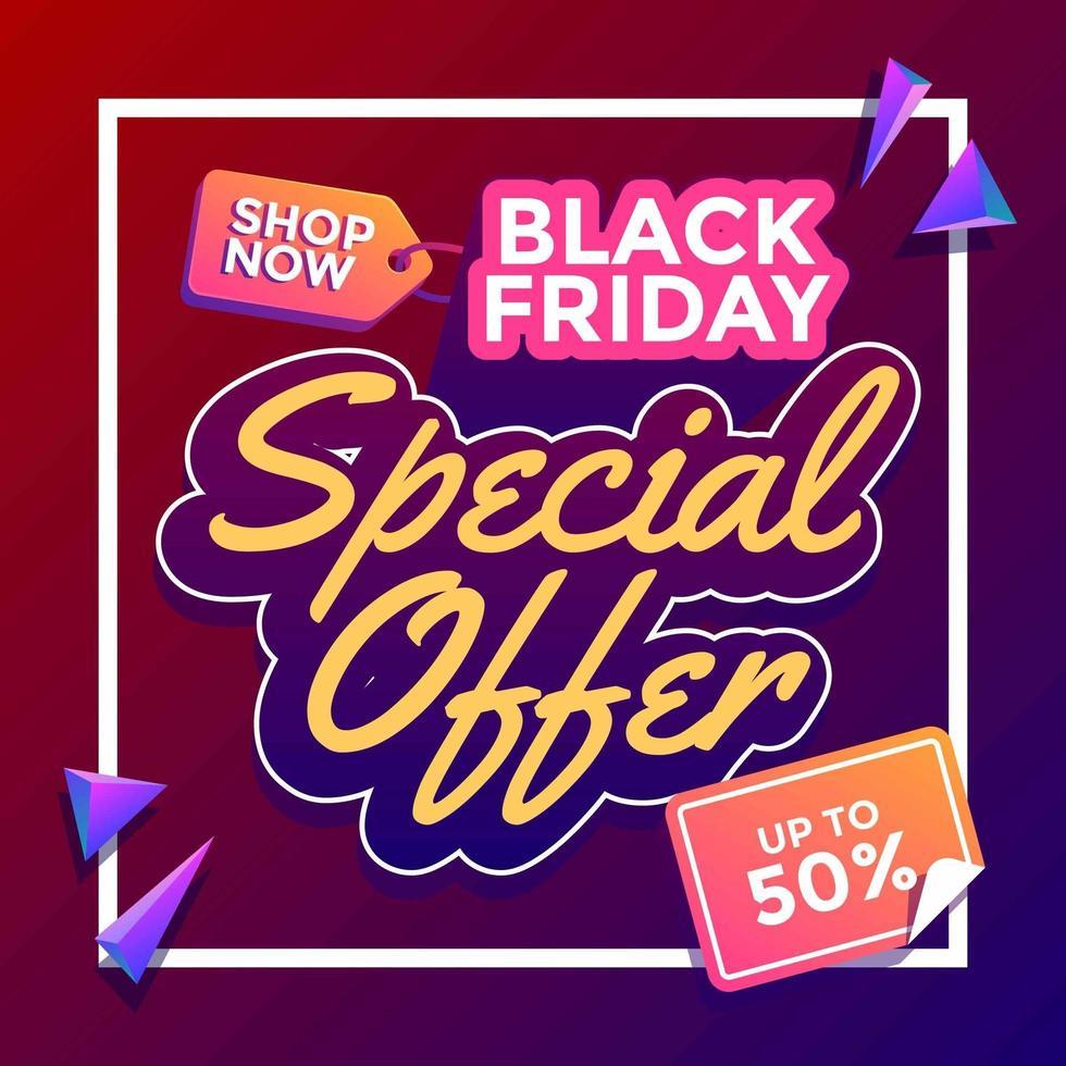 oferta especial viernes negro vector