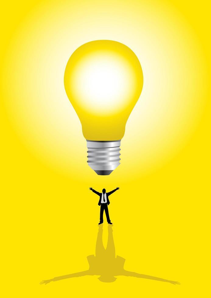 concepto de grandes ideas con el empresario vector