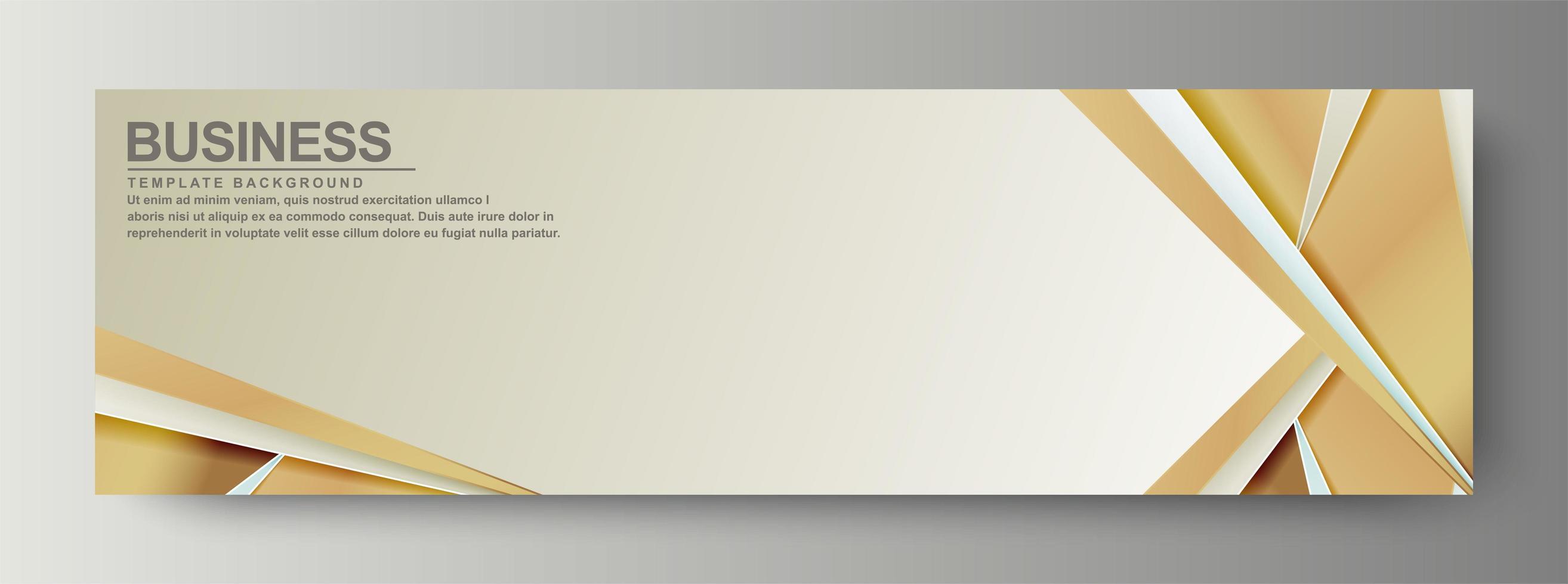 Luxury business banner background vector