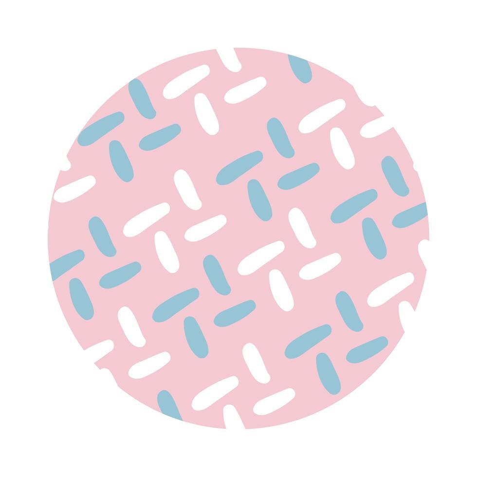 lines organic pattern block style vector