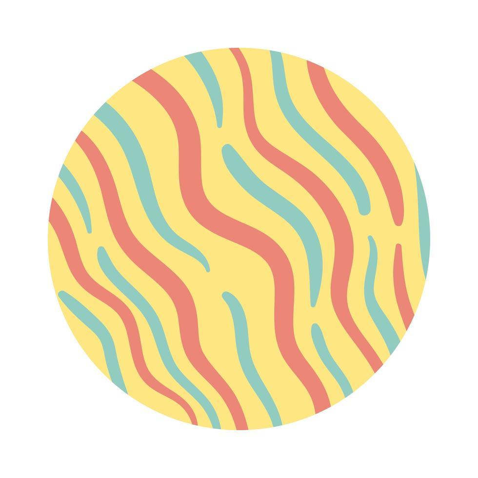 waves organic pattern block style vector