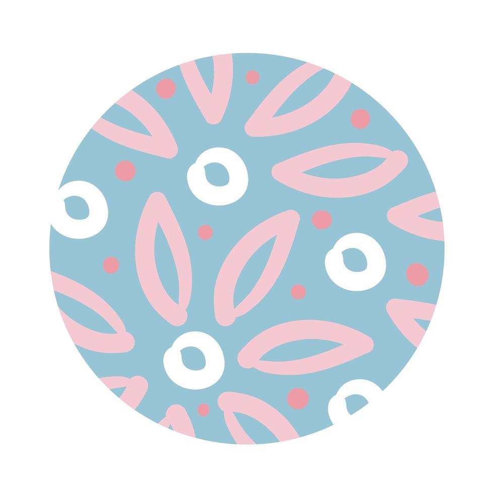 flowers organic pattern block style vector