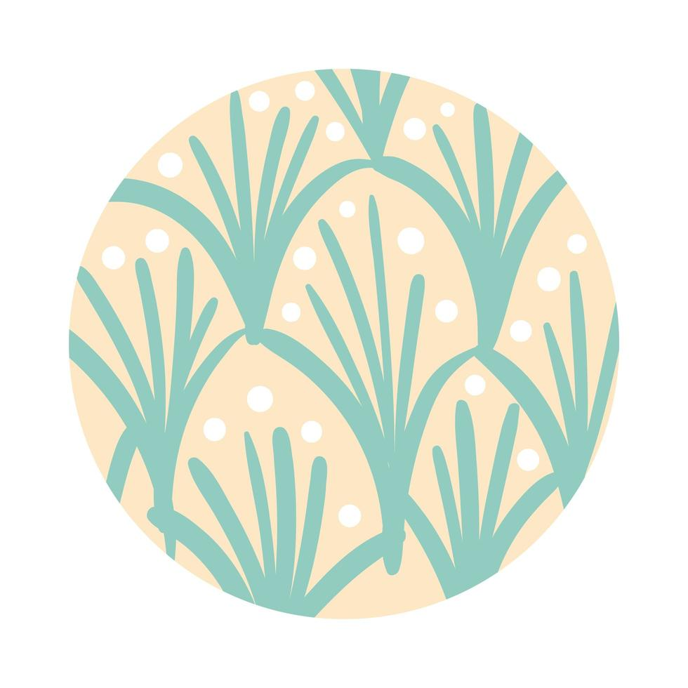 branch and leaves organic pattern block style vector