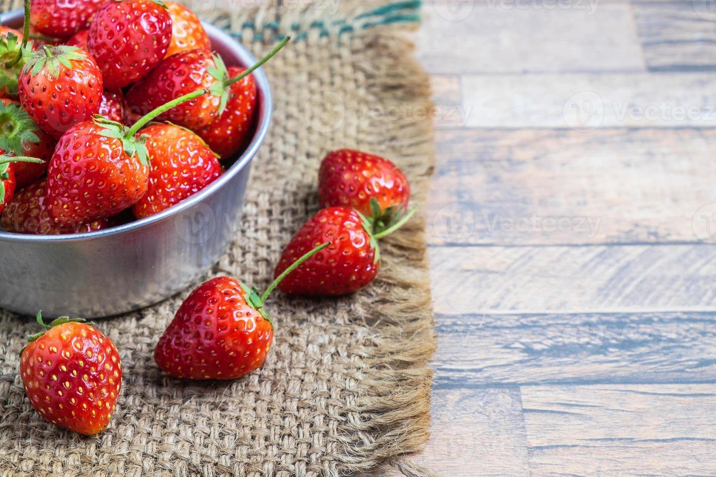 fresas en un tazón foto