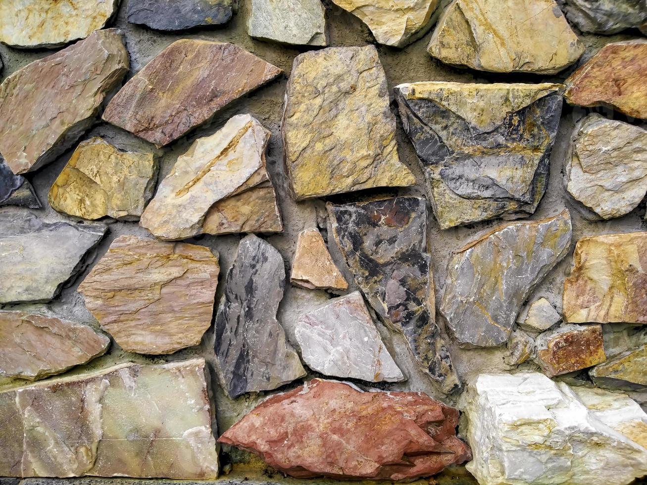 Colorful flagstone wall photo