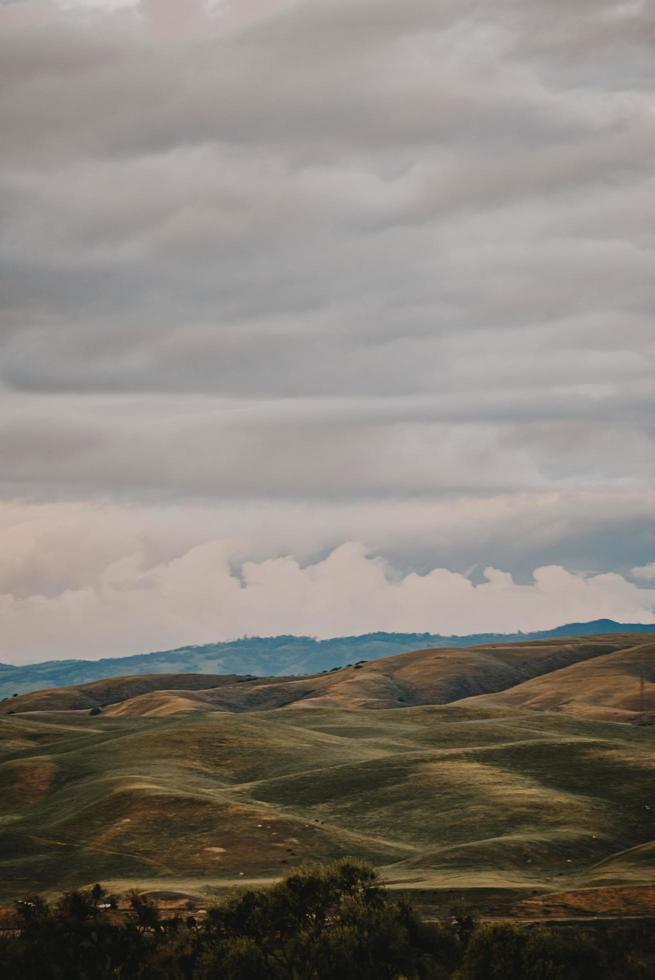 Mountain landscape with clouds photo