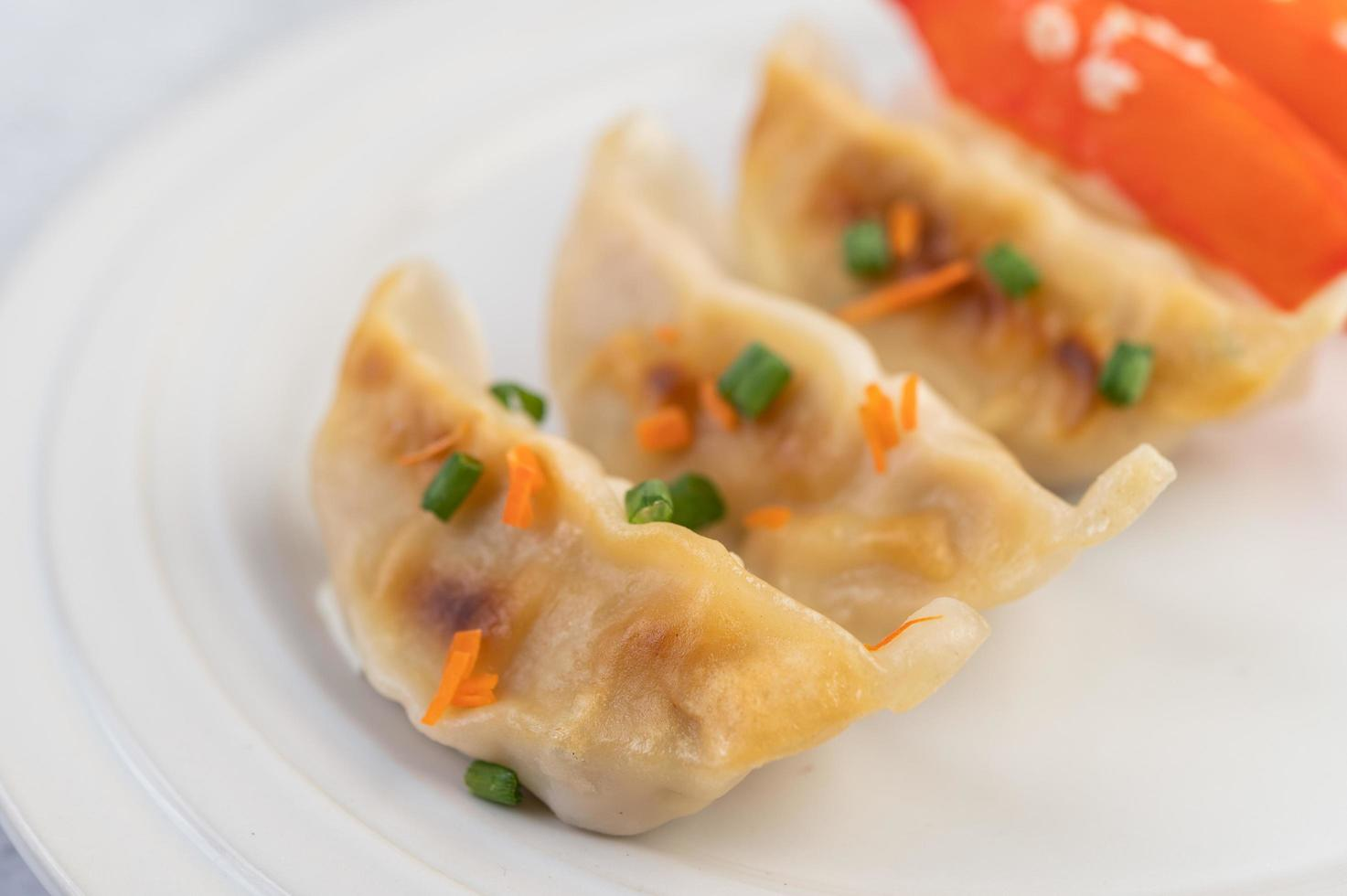 Traditional gyoza dumplings photo