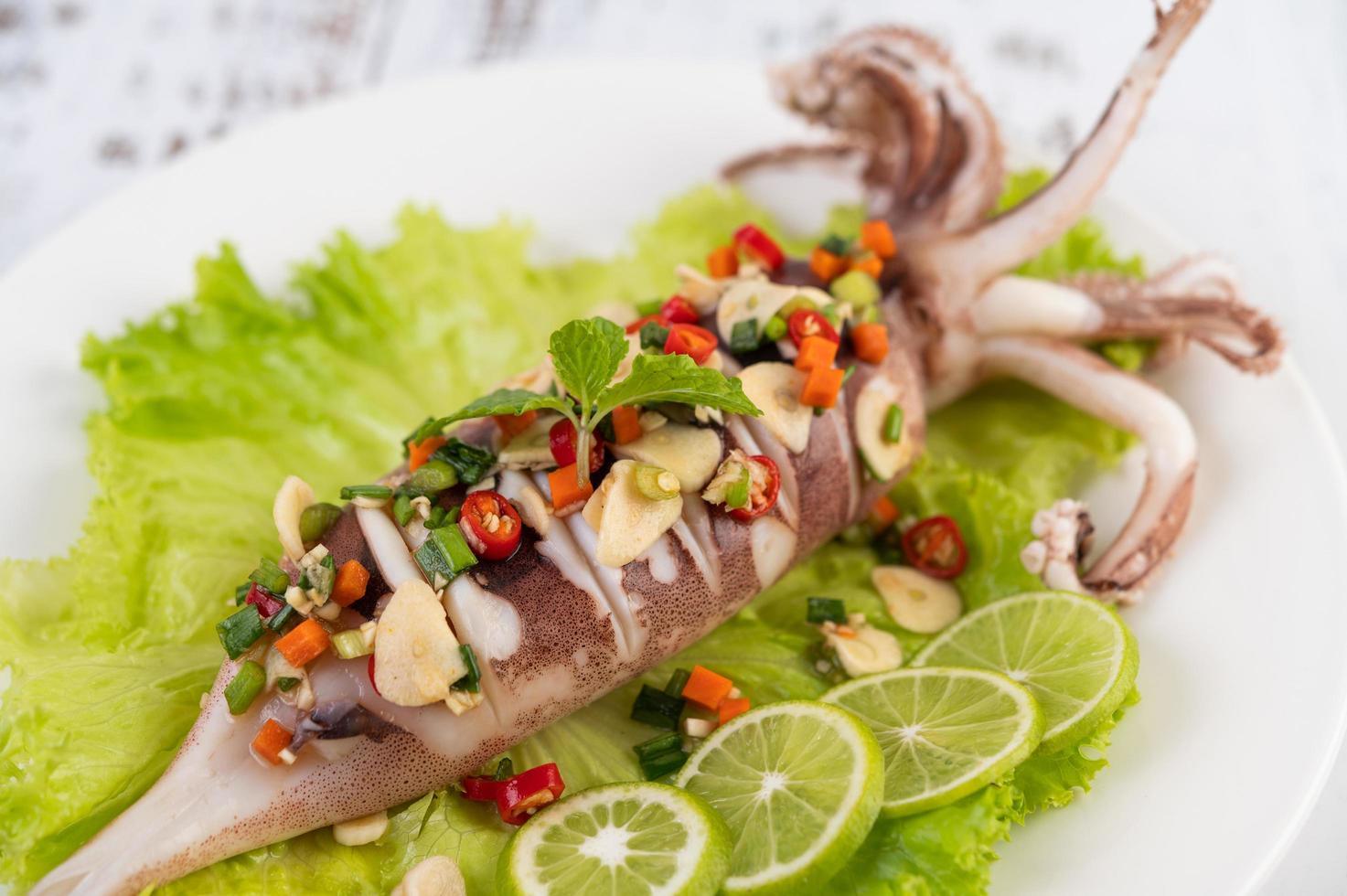 Spicy lemon squid photo