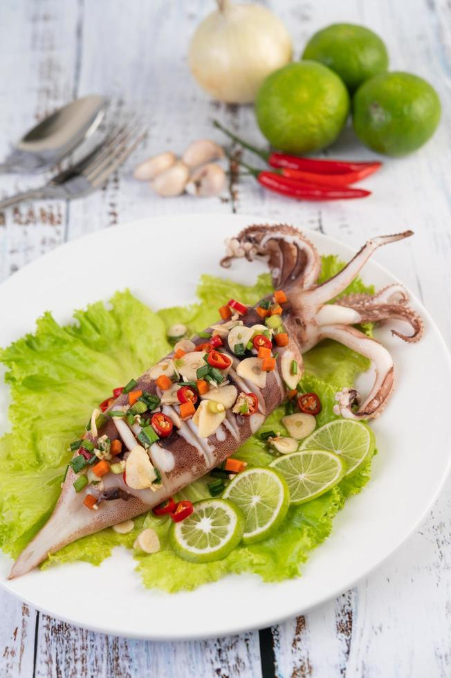 Spicy lemon squid photo