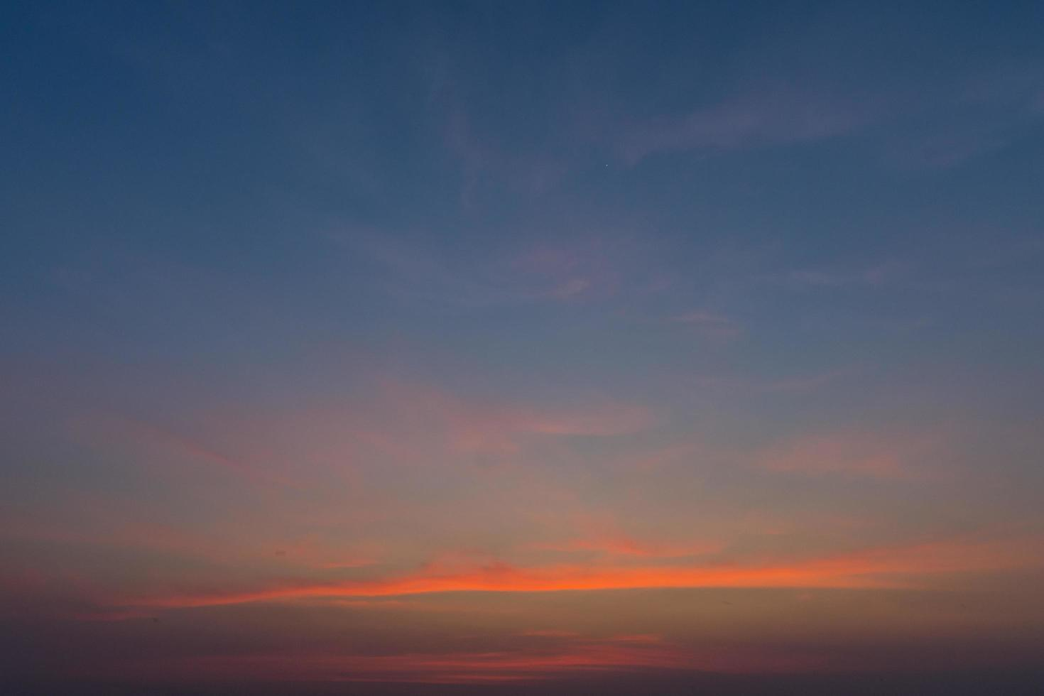 The sky at sunset photo