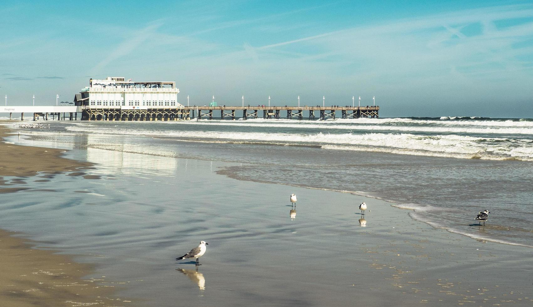 Daytona Beach, Florida, invierno, 2016 - barco atracado en Daytona Beach foto