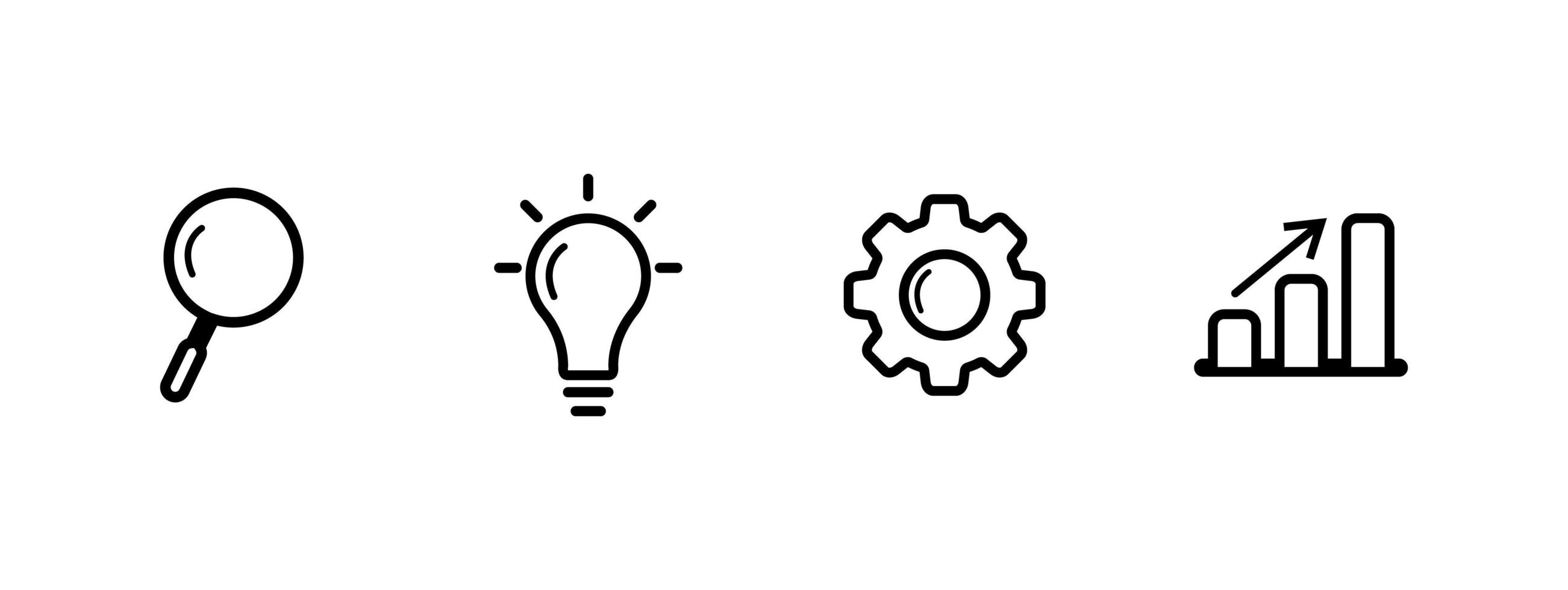 lined business infographic icons, vector illustration.