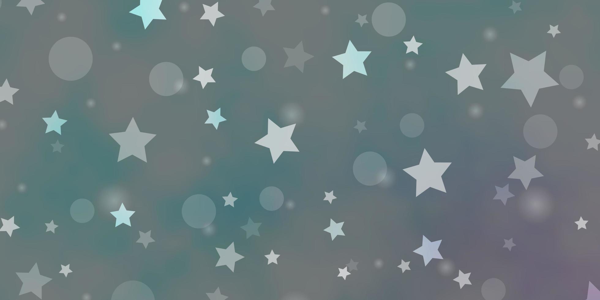 Fondo de vector azul claro con círculos, estrellas