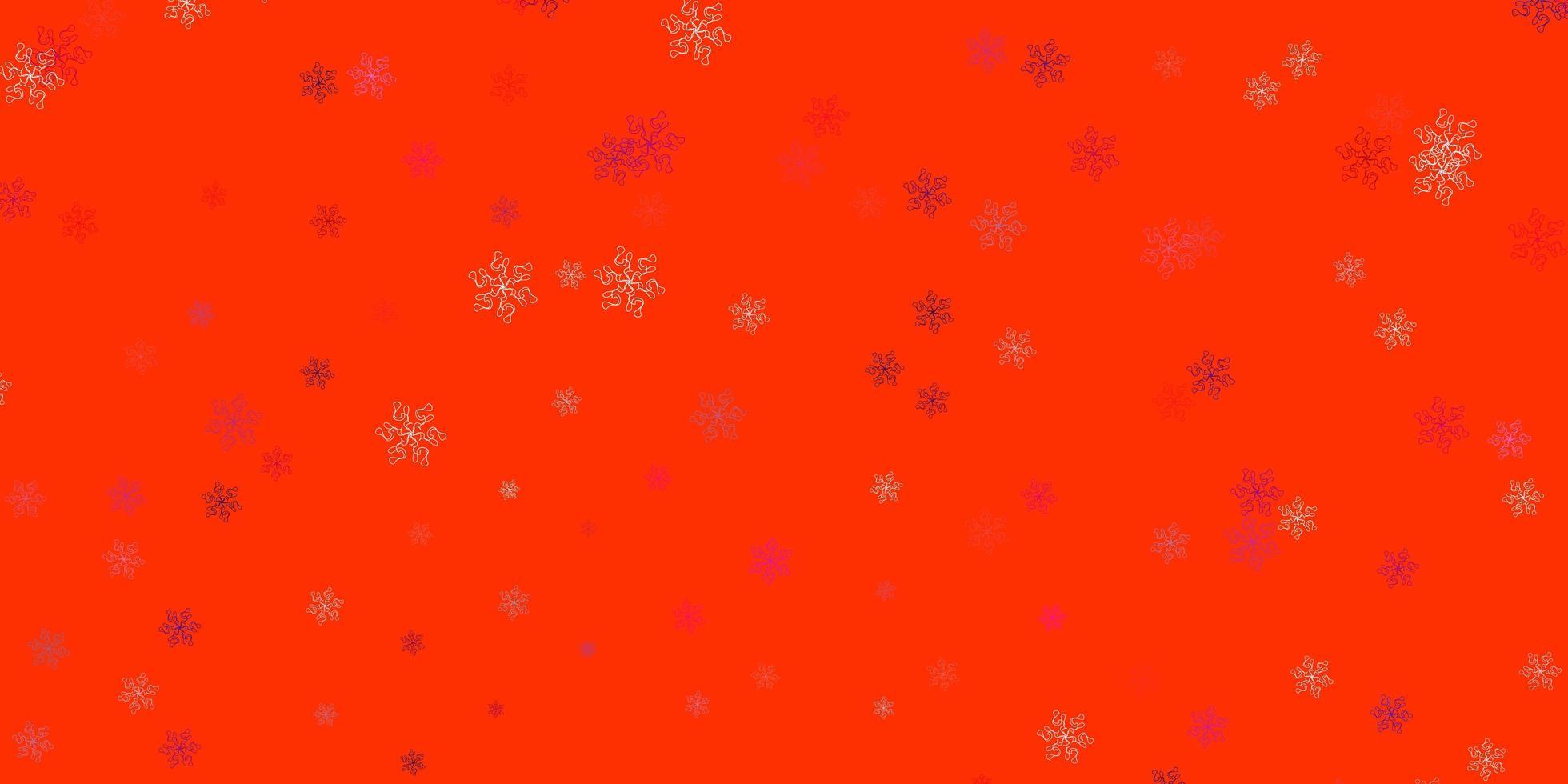 textura de doodle de vector rosa claro, rojo con flores.