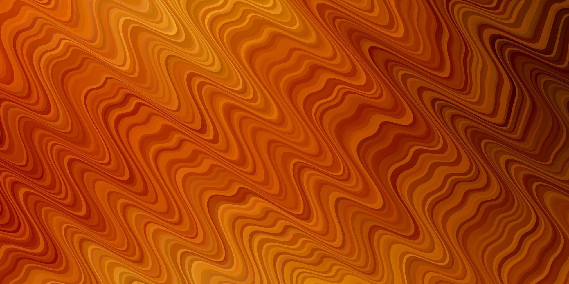 Fondo de vector naranja claro con líneas.