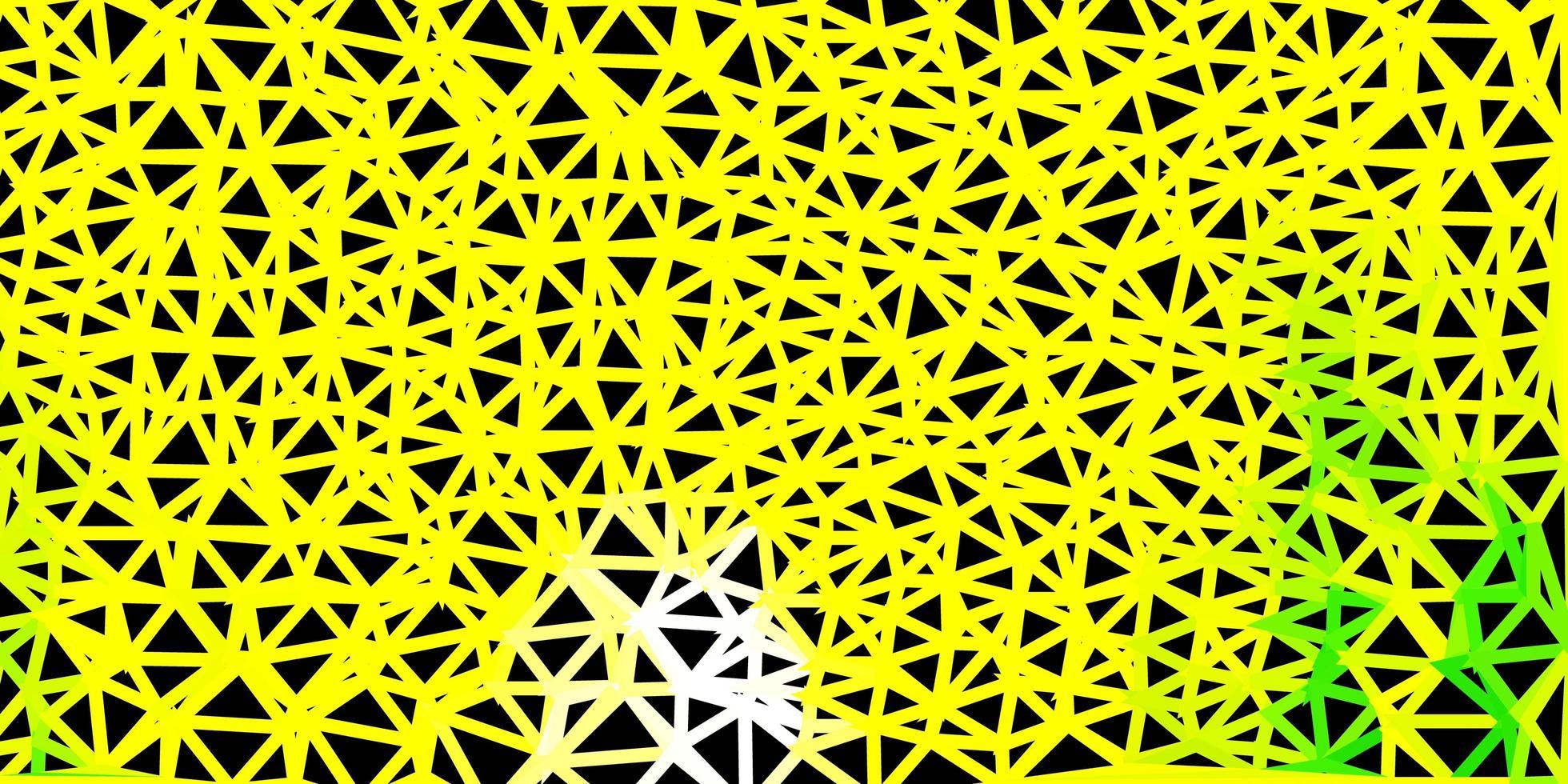 diseño poligonal geométrico verde claro, amarillo del vector. vector