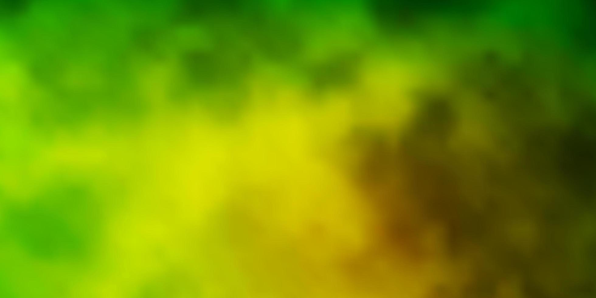 Dark Green, Yellow vector layout with cloudscape.
