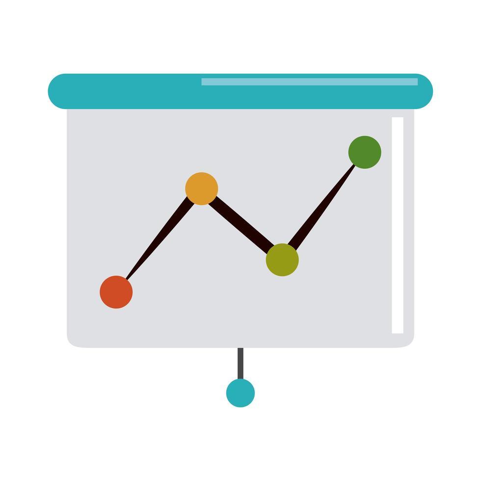 data analysis, financial diagram report stock flat icon vector